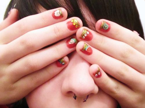 Decoracion de uñas navideñas